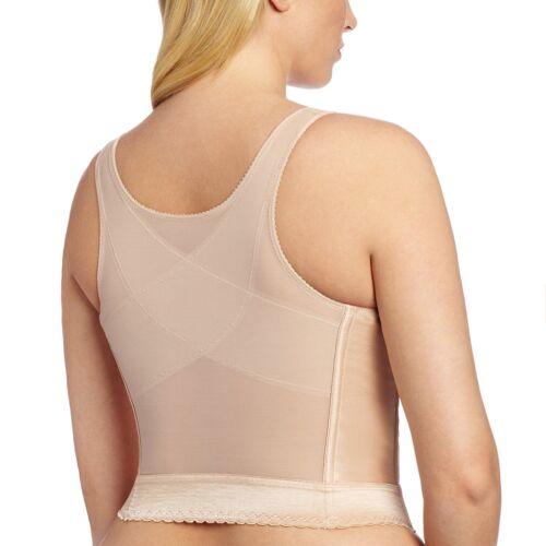 Women/'s Lace Premium Fullness Longline Posture Corrector Support Bra 5107565