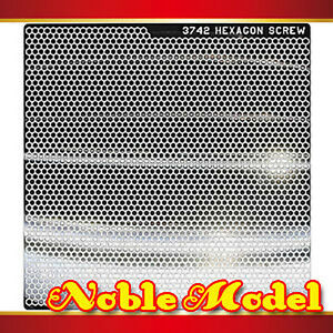Detail-Up-Metal-Decal-For-All-Gundam-Model-Kit-Silver-94mm-x-94mm-HEXAGON-SCREW
