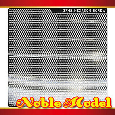 Detail Up Metal Decal For All Gundam Model Kit Silver 94mm x 94mm HEXAGON SCREW