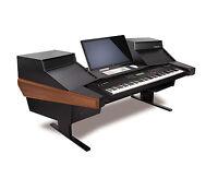 Argosy Dual 15k Keyboard Workstation Desk Mahogany   D15k-dr825-b-m   Pala
