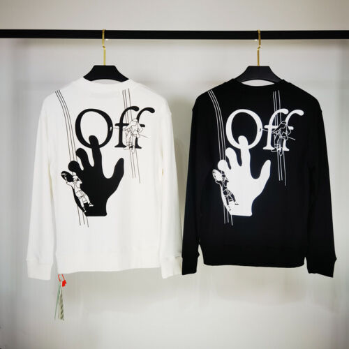 Off-White 2020SS graffiti palm abstract Art 3D Three-Dimensional Sweater #2188