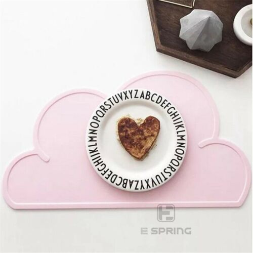 Placemat Dining Baby Table Mat Kids Cloud Shaped Kitchen Pad Silicone Room Bowl