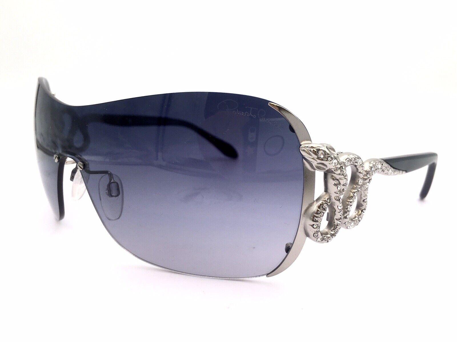 Roberto Cavalli Mens Designer Sunglasses 58-16-125 Shiny Black//Smoke