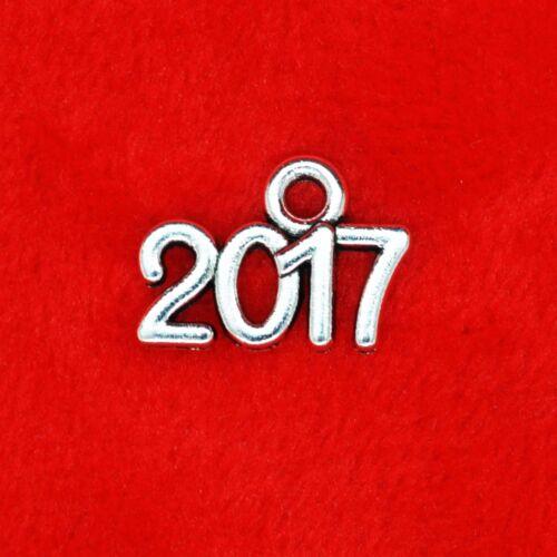 20 x Plata Tibetana Año Nuevo del año 2017 Encanto Colgante Abalorios hacer