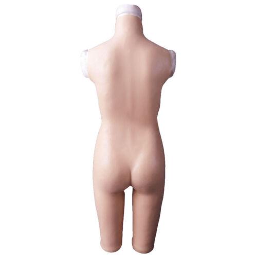 Del Stretto Transgender D Fullbody Pantaloni Tazza Forme Silicone Di Mezzo Seno cUREEp
