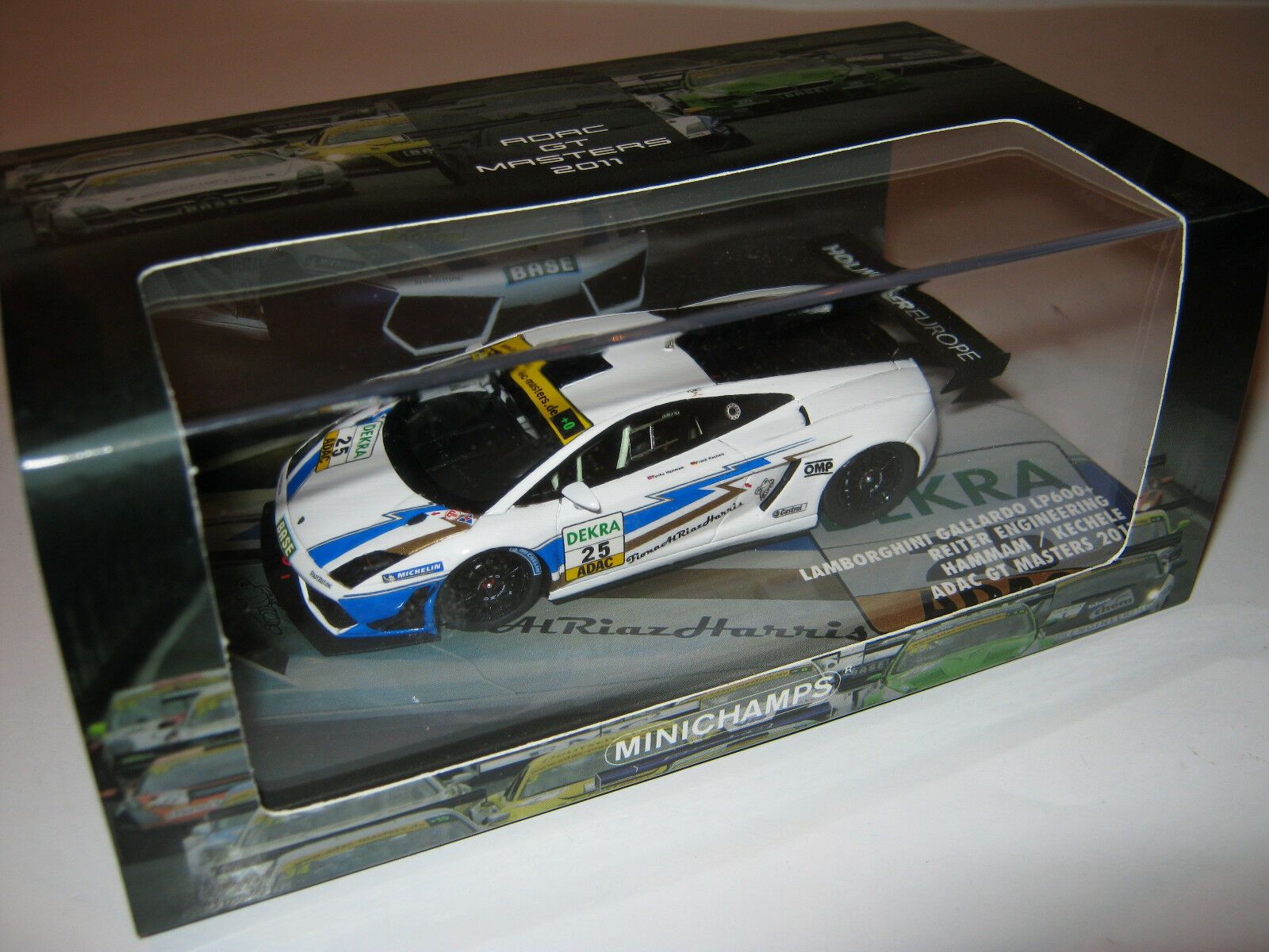 1 43 LAMBORGHINI Gallardo lp600 Hammam GT Masters 2011 Minichamps 437111295 New
