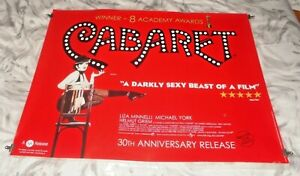 Cabaret 30th Anniversary BFI Re-Release Original UK Quad Movie Cinema Poster