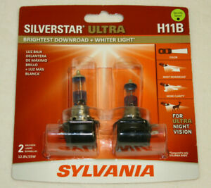 Sylvania-Silverstar-ULTRA-H11B-Pair-Set-High-Performance-Headlight-2-Bulbs-NEW