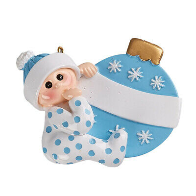 PERSONALIZED CHRISTMAS ORNAMENT BABY BOY ORNAMENT BLUE BY ...