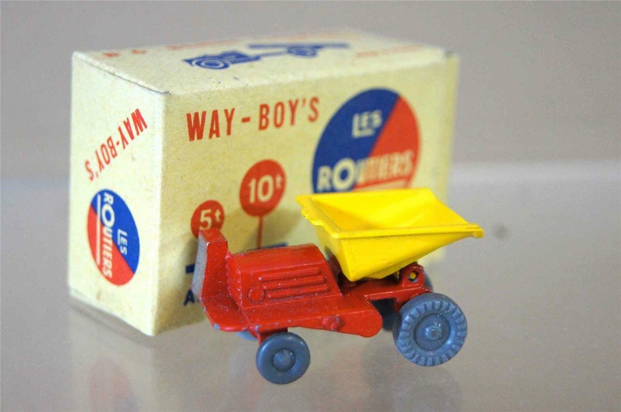 Way-boys LES routiers n. 6 Midget GIOCATTOLI CO BENNE CARRIERE BLU TIPO 9 MIB OZC