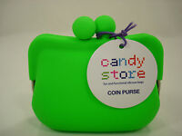 Authentic Candy Store Lime Green Silicone Framed Coin Purse/pouch