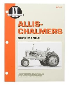 I-amp-T-Shop-Manual-For-Allis-Chalmers-B-C-CA-G-RC-WC-WD45-WF-amp-WD45-Diesel-Tractors