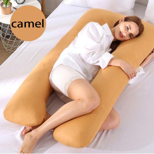 Maternity Sleeping Support Pillow Case Pure Cotton Cover U-Shape Pillowcase UK