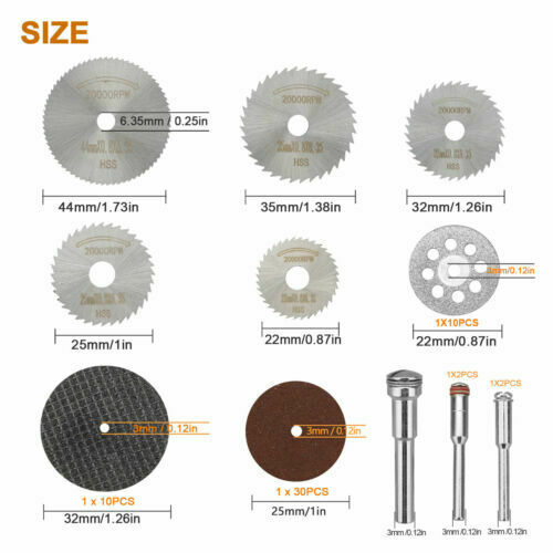 60x Diamond Cutting Wheels For Dremel Rotary Tool die grinder metal Cut Off Disc