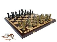 ''sparta'' Decorative Wooden Chess Set 50x50 Great Chessboard Weighted Pieces