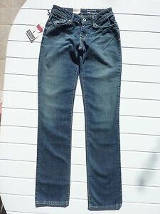 Jean-LEVI-S-femme-W26-L34-bleu-Coupe-droite-Bold-curve-Straight-NEUF-etiquete