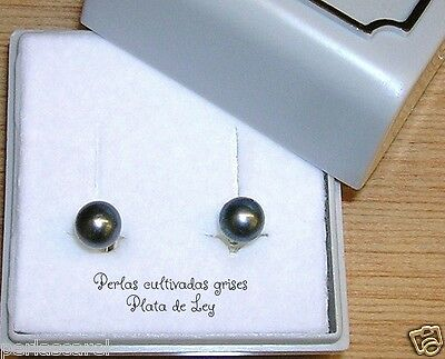 Boucles D/'Oreilles Du Perles Cultivées Rondes AAA et Argent de Loi 925.Nuevos