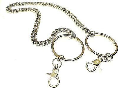 3db976e153a NEW Silver Chain Link Biker Double Hoop Loop Trucker Key chain Wallet | eBay