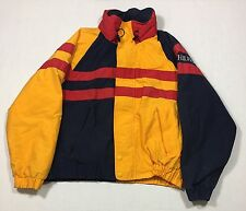 Vintage 90s Tommy Hilfiger Colorblock Sailing Windbreaker Jacket Medium Rare Red