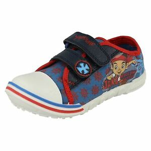 Disney-Jake-Treasure-Infant-Boys-Blue-Red-Canvas-Trainers-UK-Infant-5-10-R25B