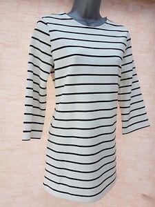 Ladies-Womens-M-amp-S-Tunic-Stripe-Top-Shift-Sweatshirt-TShirt-Jumper-Size-6-22