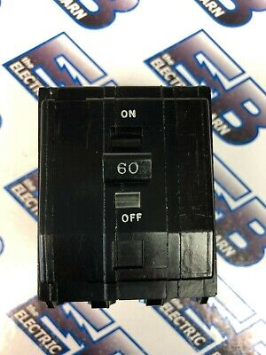 60 Amp 3 Pole 240 Volt Twisted Foot Circuit Breaker Square D QOB360 Warranty