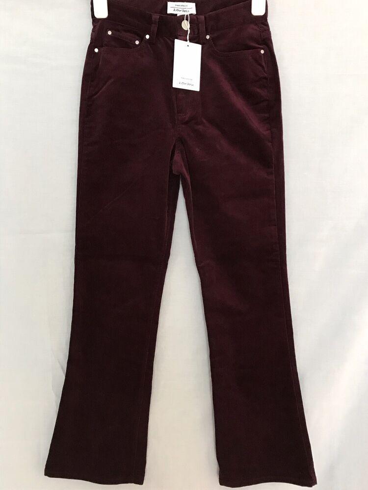 & Other Stories Fine Cordon Bootleg Pantalon Rouge Foncé Ue 34 Uk Taille 6
