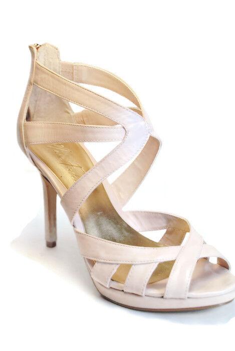 Marc Fisher Ziro High Heel Platform Womens Sandals,Medium Natural,Size 9M,Used