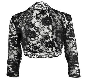 Ladies Bolero Shrug White Chiffon Short Sleeve Sizes 4-32 Grace /& Flair
