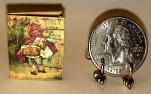 Mini Readable Illustrated Book Little Red Riding  Hood 1:12 Dollhouse Miniatures