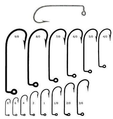 100 Mustad 91715D-70 Size 7//0 Saltwater 90 Degree Jig Hooks Fits Do It Molds
