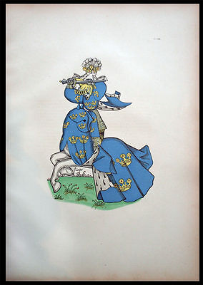 Sunny Le Roi De Suede Heraldry Nobility 1890 Antiques