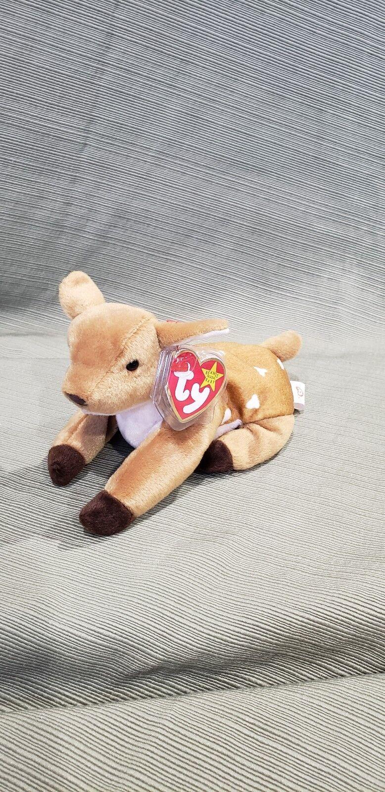 Ty Beanie Baby Whisper the Deer 1998 Retired & New