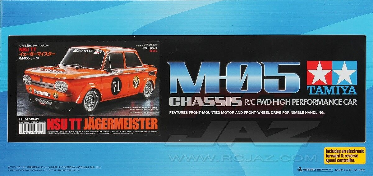 Tamiya 58649 1 10 Scale RC Car M05 Chassis Kit Jagermeister NSU TT w ESC