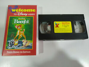 Bambi-Walt-Disney-VHS-Cinta-Ingles-con-Subtitulos-2T