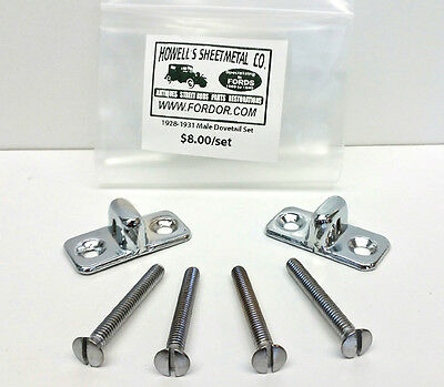 1928 1929 1930 1931 Model A Ford Male Dovetail Set Coupe Sedan Roadster Pickup