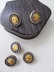 Vintage Set Of 5 Portrait  Buttons Silver Rims - Norwich, United Kingdom - Vintage Set Of 5 Portrait  Buttons Silver Rims - Norwich, United Kingdom