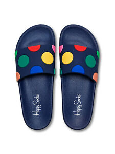 Ciabatte-Unisex-Happy-Socks-POOL-SLIDER-DOT-Multicolore-SDT114-6300