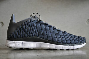 brand new fceab a0b1b Image is loading Nike-Free-Inneva-Woven-Anthracite-Dark-Grey-White