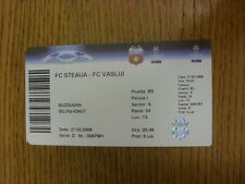 27/02/2009 Ticket: FC Steaua v FC Vaslui. Any faults with this item have been pr