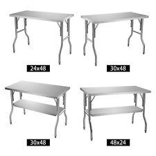 Vevor Commercial Worktable Workstation Folding Prep Table 48 X 24 48 X 30 In