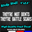 They/'re Not Dents Battle Scars Funny Car Window Decal Vinyl Bumper Sticker 0073