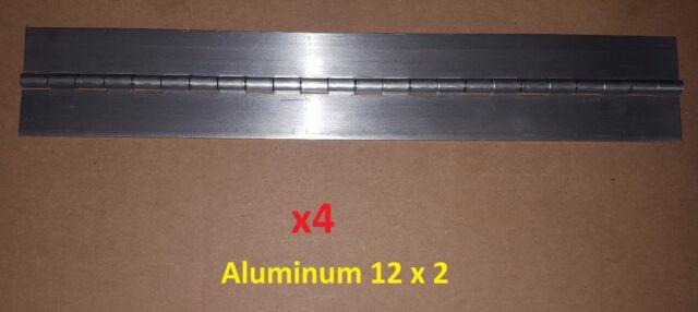 2 pc .075 Steel Piano Hinge 8 x 3 Continuous Door//Boat//Sheet Metal//Wood Working//