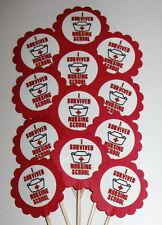 Nurse Graduation Cupcake Toppers/Party Picks  Item #1098 Nursing School/Medical