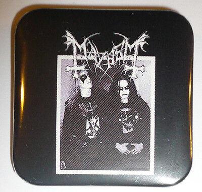 MAYHEM Button / Square Pin Black Metal Venom DEAD Death Celtic Frost hellhammer