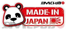 JDM CLUB Official - MADE IN JAPAN Decal - Panda Head with English Text