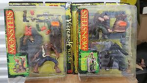 McFarlane Monsters Series 1 Set 4 Figures (Werewolf/Dracula/Hunchback/Frankenst)
