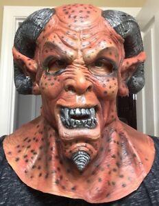 Scary Demon Satan Mask Halloween Costume Cosplay Adult Latex Ram
