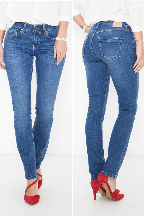 Att Jeans Belinda Slim Fit Regular Waist 274 Mid Blue Wonderstretch Rrp € 89,95