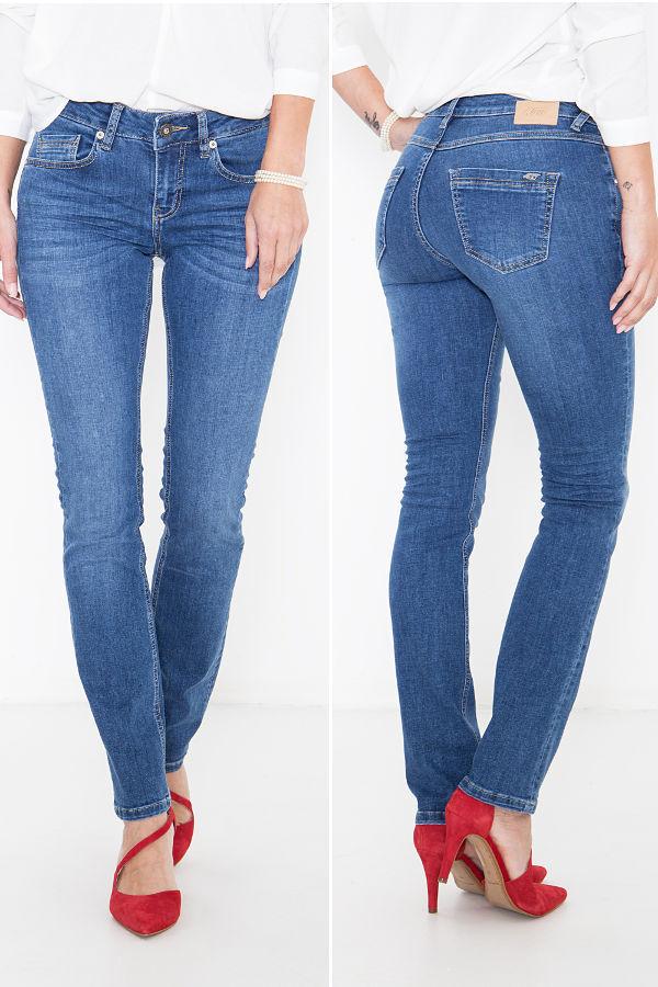 ATT Jeans BELINDA SLIM Fit Regular Waist 274 Mid Blau Wonderstretch Denim NEU